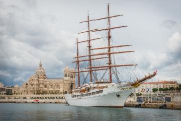 SeaCloud 2 im Hafen von Marseille, Frankreich. Foto: Kerstin Bittner