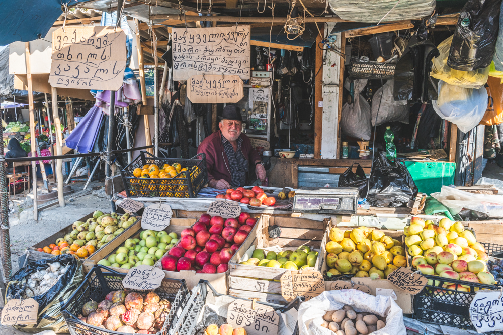 Georgien, Markt in Telawi. Foto: Kerstin Bittner