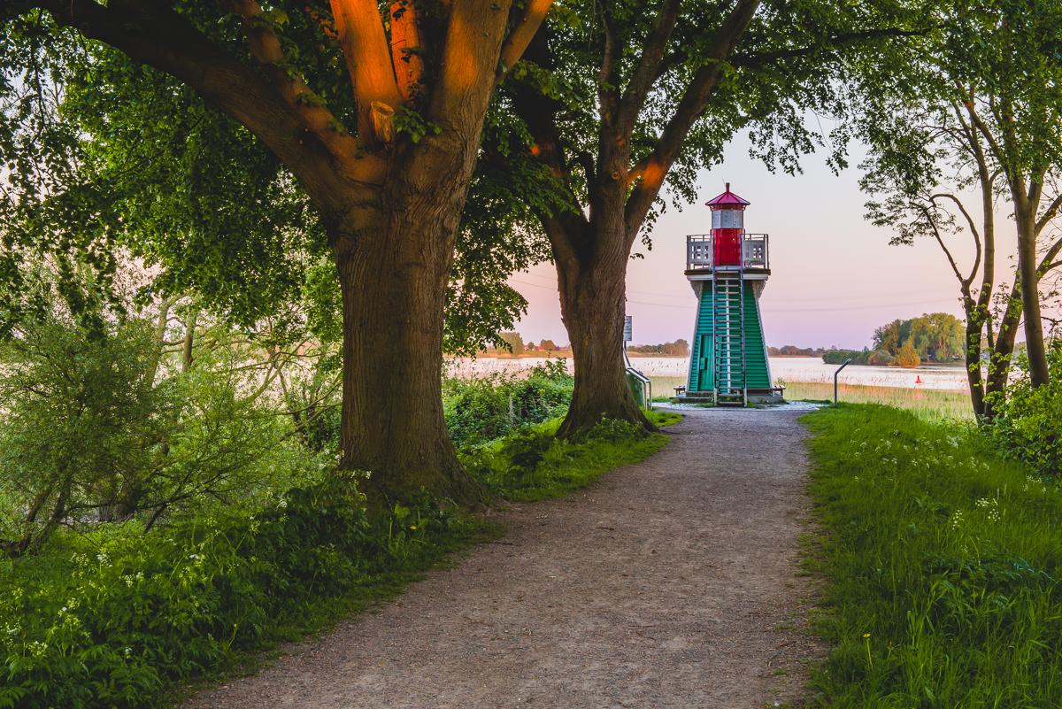 Leuchtturm Bunthäuser Spitze in Wilhelmsburg in Hamburg. Foto: Kerstin Bittner