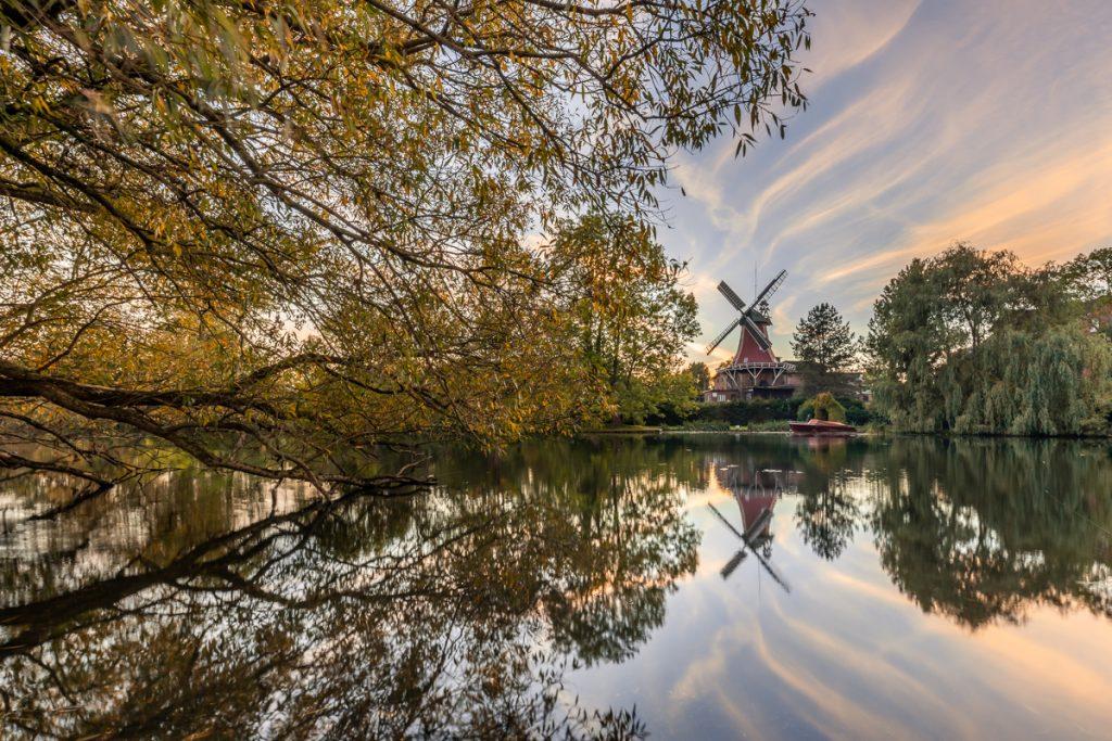 Reitbrooker Mühle zum Sonnenuntergang. Foto: Kerstin Bittner