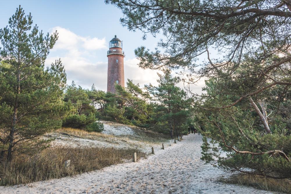 Leuchturm Darßer Ort bei Prerow auf dem Darß. Foto: Kerstin Bittner