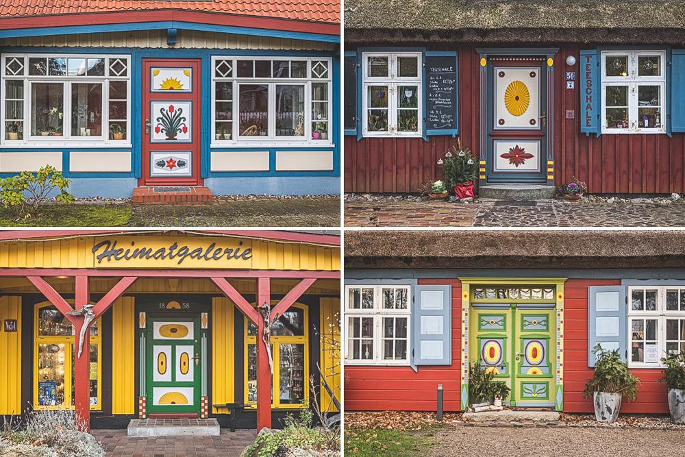 Haustüren in Prerow auf dem Darß. Foto: Kerstin Bittner