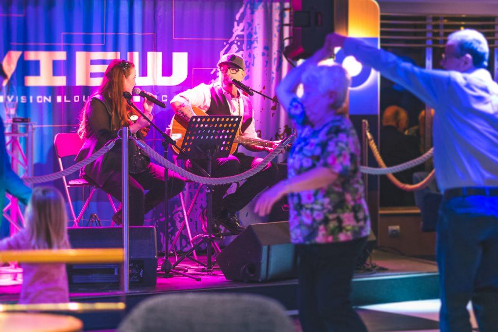 Unterhaltungsprogram auf der Stena Scandinavica. Foto: Kerstin Bittner
