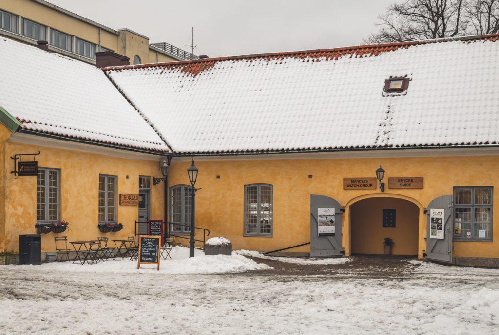 Innenhof Kronhuset mit Ateliers in Göteborg, Schweden. Foto: Kerstin Bittner