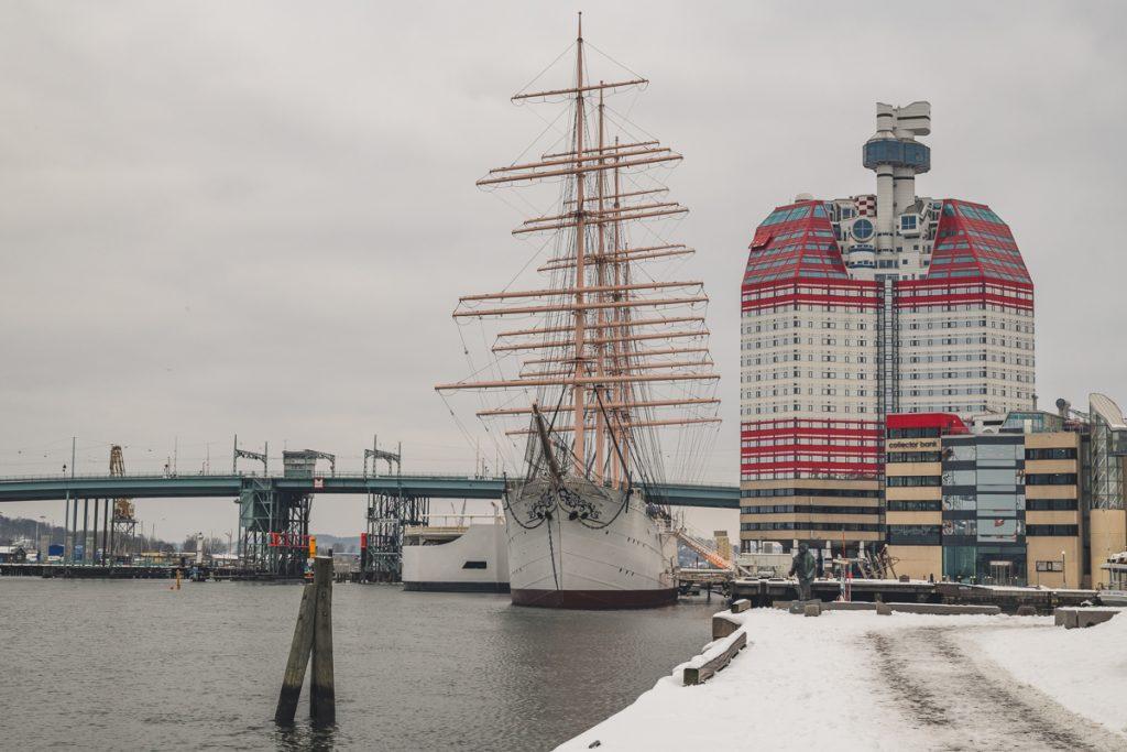 Lille Bommen mit Segelschiff Viking und Lippenstift in Göteborg, Schweden. Foto: Kerstin Bittner