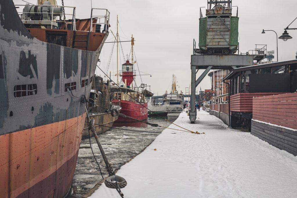 Museumshafen Maritiman in Göteborg, Schweden, Stadtteil Klippan. Foto: Kerstin Bittner