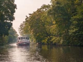 Alsterschiff in Hamburg. Foto: Kerstin Bittner