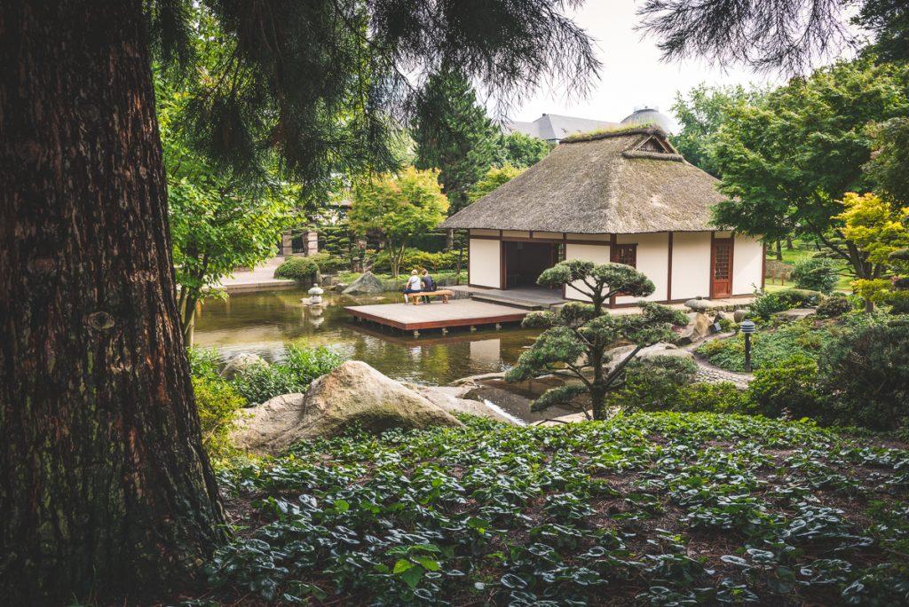 Japanisches Teehaus im Park Planten und Blomen. Foto: Kerstin Bittner