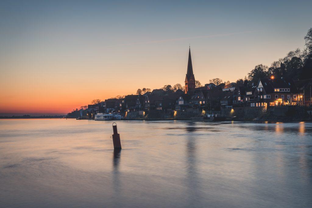 Lauenburg zum Sonnenuntergang. Foto: Kerstin Bittner