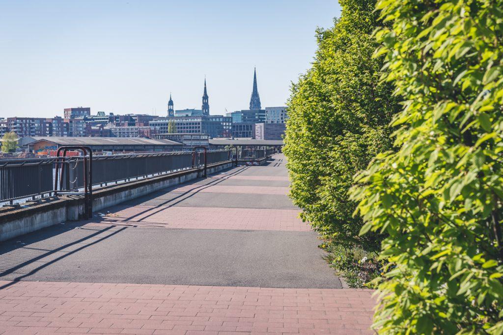 Skyline von Hamburg am Oberhafen. Foto: Kerstin Bittner