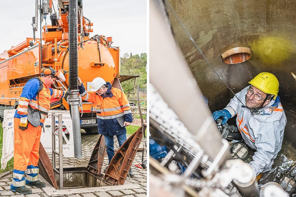 Mitarbeiter der Kanalreinigung der Kläranlage Konstanz. Foto: Kerstin Bittner