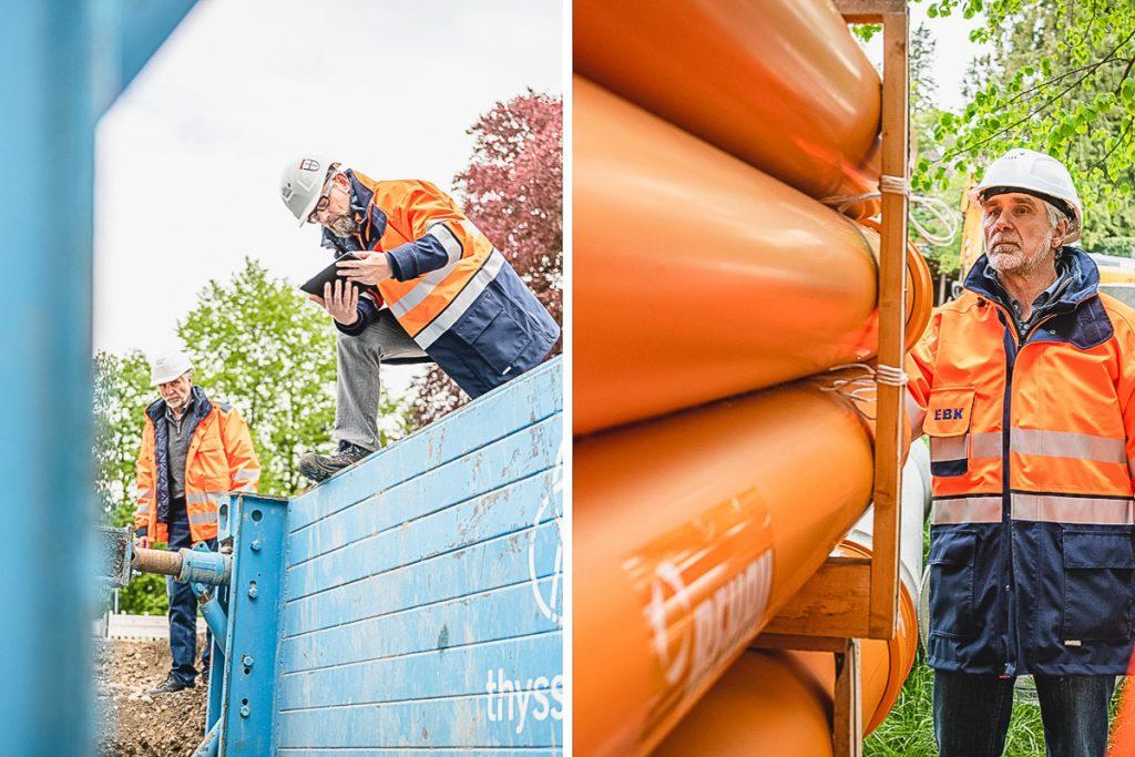 Mitarbeiter im Kanalbau der Kläranlage Konstanz. Foto: Kerstin Bittner