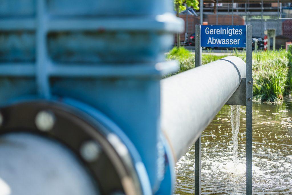 Gereinigtes Abwasser von der Kläranlage Konstanz. Foto: Kerstin Bittner