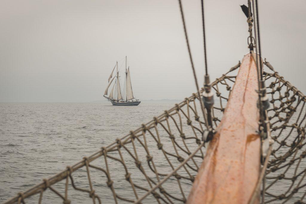 Im Nebel auf der Ostsee. Foto: Kerstin Bittner
