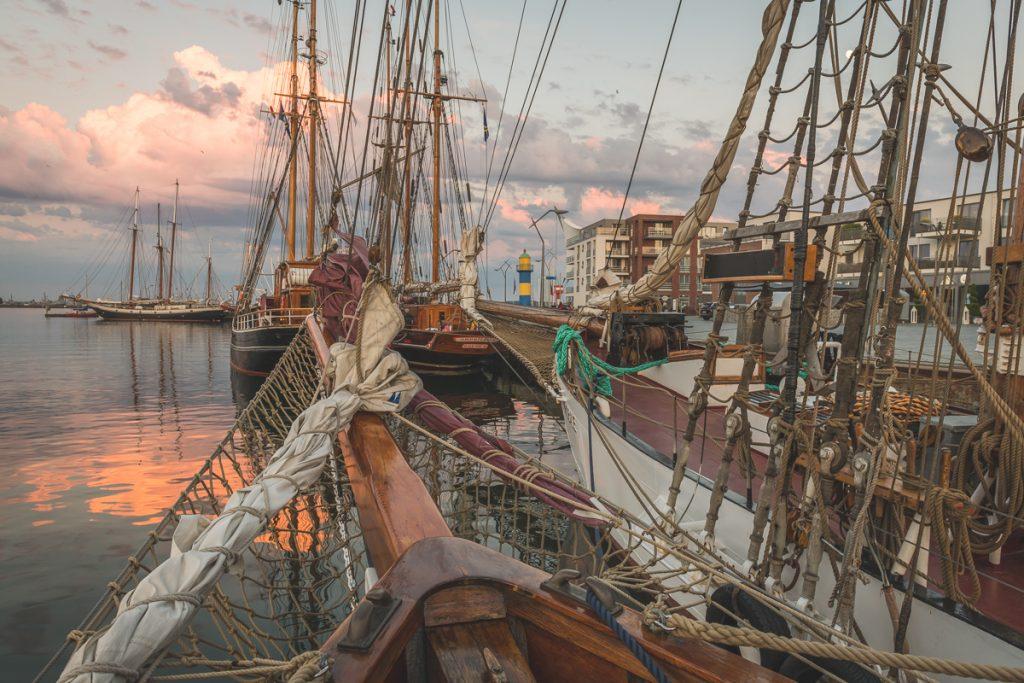 Gaffelschoner Samyrah im Hafen von Eckernförde. Foto: Kerstin Bittner