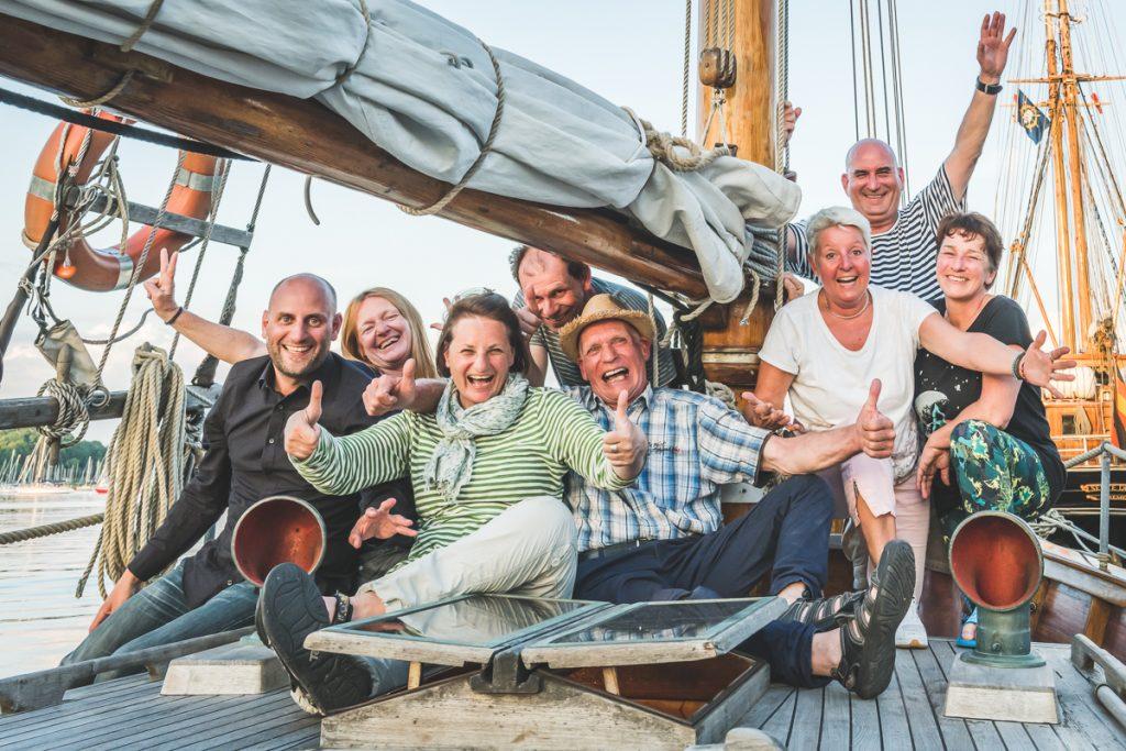 Crew Gaffelschoner Samyrah.