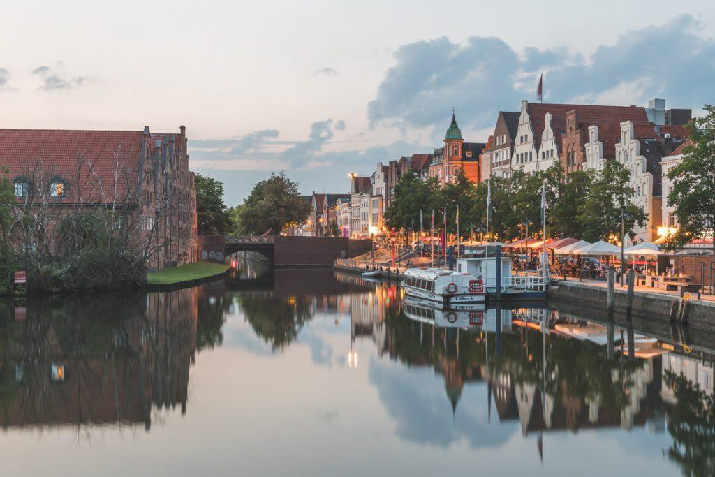 Lübeck, Blick über die Obertrave. Foto: Kerstin Bittner