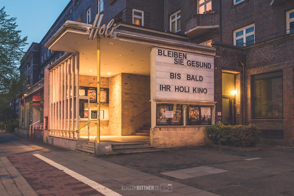 Hamburg im Lockdown. Das Holi Kino wünscht seinen Gästen, dass sie gesund bleiben.