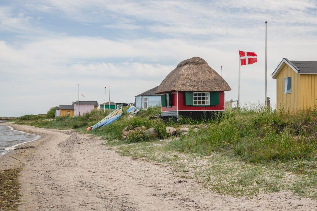 Badehäuschen bei Marstal auf der Insel Ærø, Dänemark. Foto: Kerstin Bittner