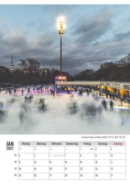 Januar. Planten un Blomen. Kalender Hamburg 2021. Auch das ist Hamburg. Foto: Kerstin Bittner