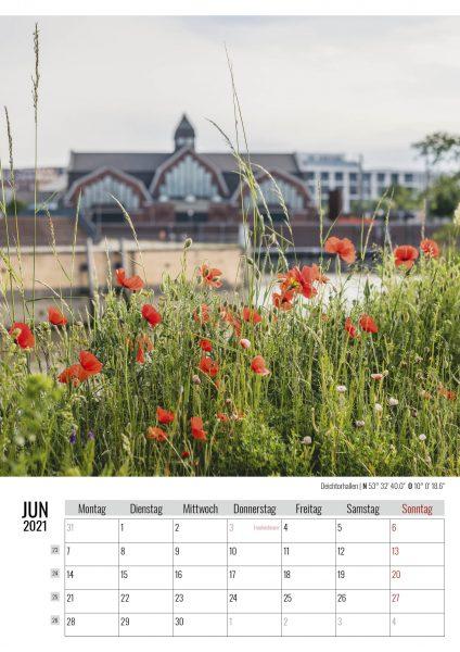 Juni. Deichtorhallen. Kalender Hamburg 2021. Auch das ist Hamburg. Foto: Kerstin Bittner