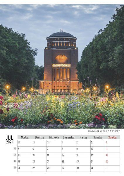 Juli. Planetarium. Kalender Hamburg 2021. Auch das ist Hamburg. Foto: Kerstin Bittner