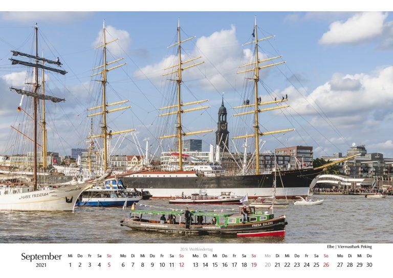Kalender Hamburg 2021. Foto Kerstin Bittner