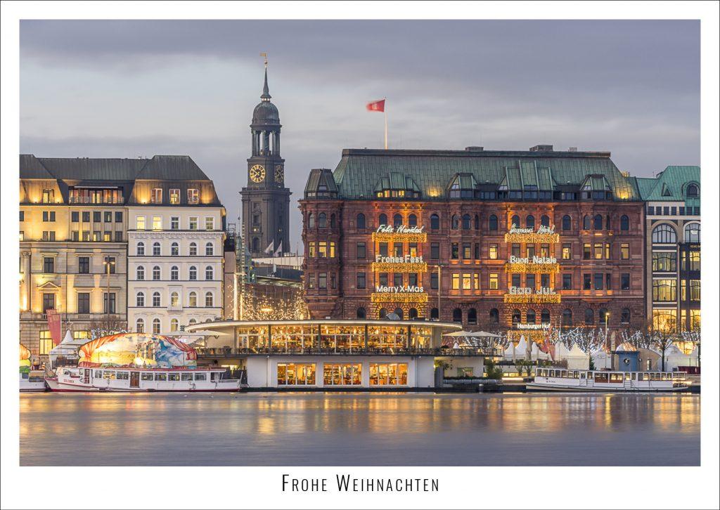 Weihnachtliche Binnenalster in Hamburg. Foto: Kerstin Bittner
