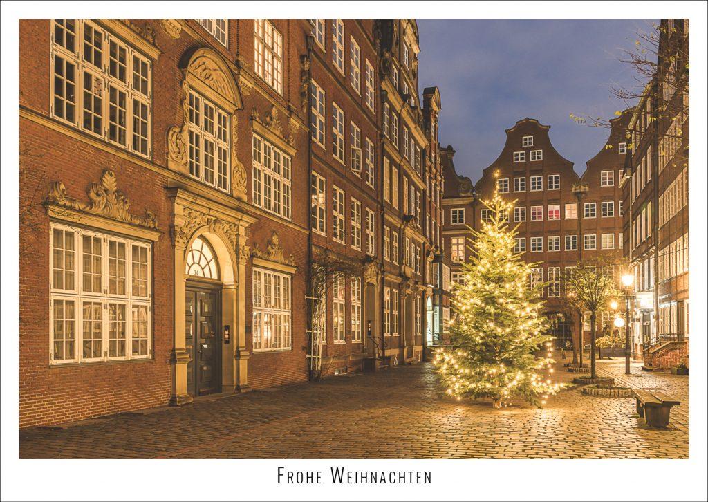 Weihnachten im Hamburger Komponistenquartier. Foto: Kerstin Bittner