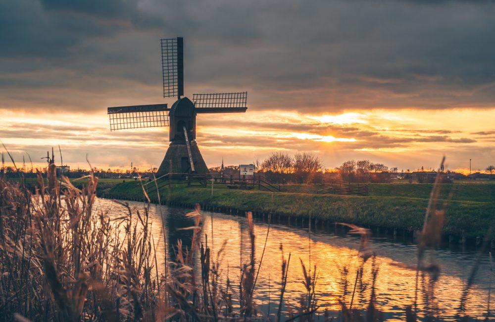 Schöpfmühle Honigfleth im Sonnenuntergang. Foto: Kerstin Bittner